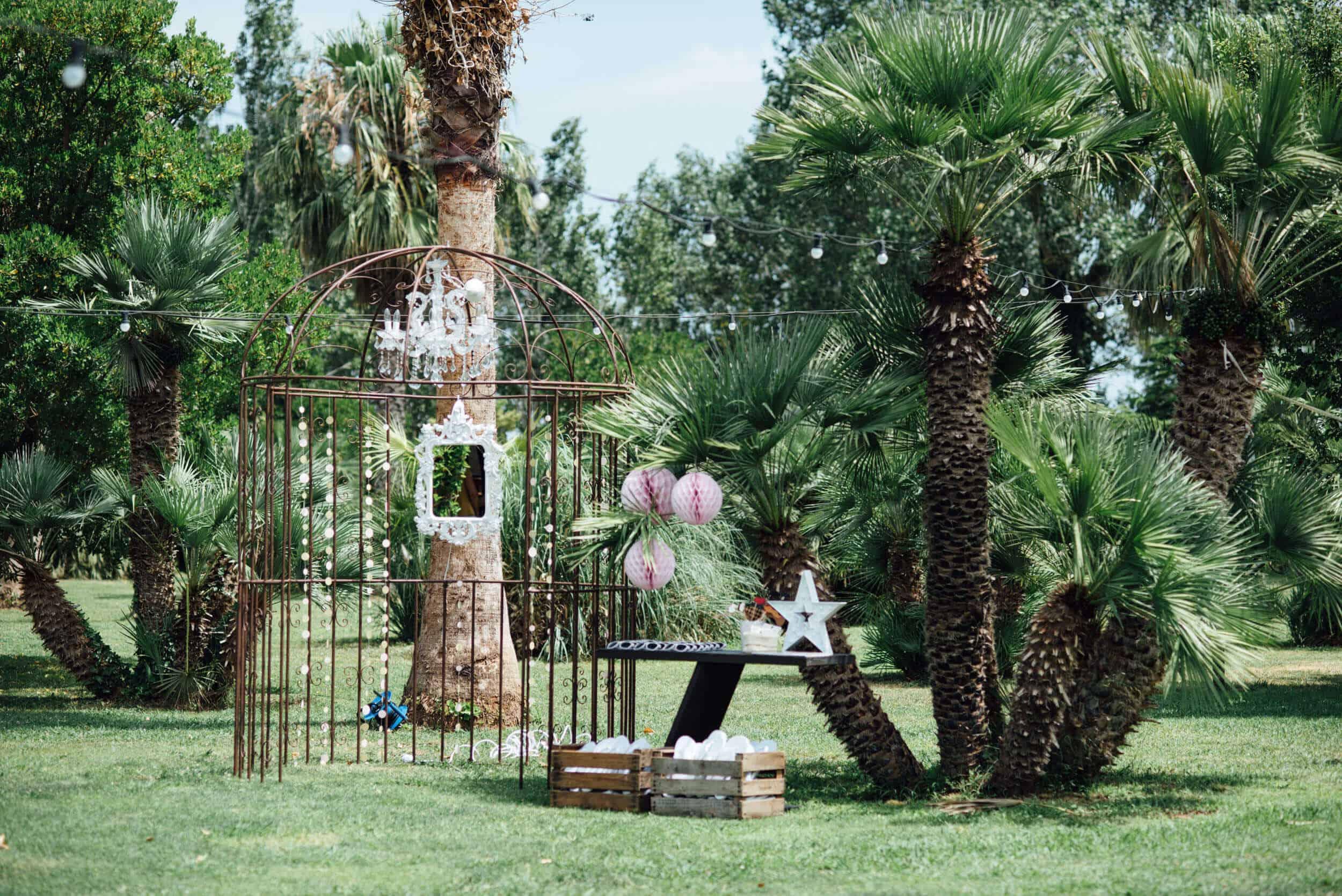 decoración jardín bodas castillo cortal gran