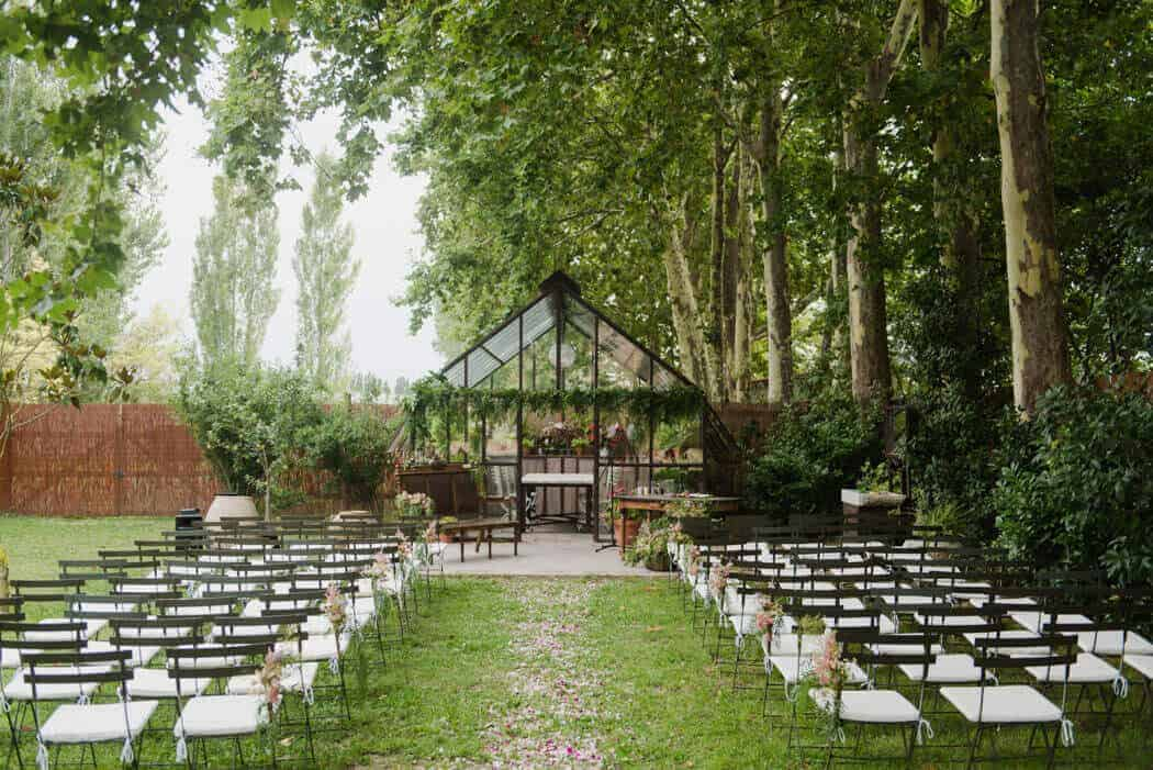 cerimònia d'hivernacle casaments castell Cortal bones