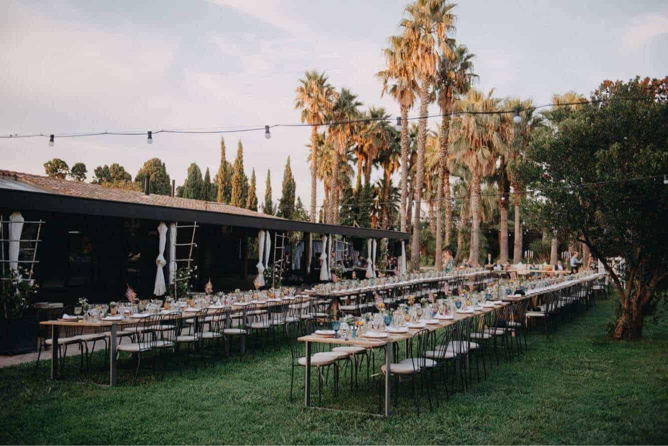 banquet Grand porxo jardí casaments gran tall