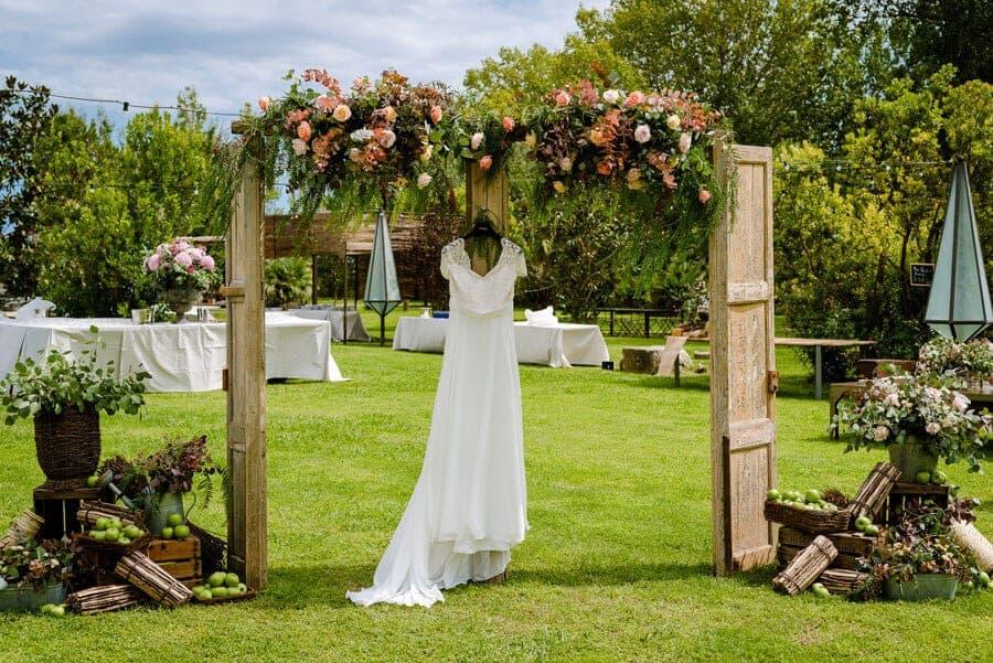 vestido jardín bodas castillo cortal gran