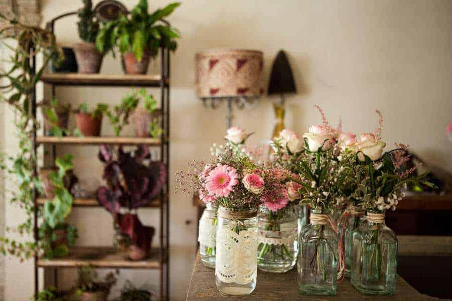 decoració flors casaments castell gran Cortal