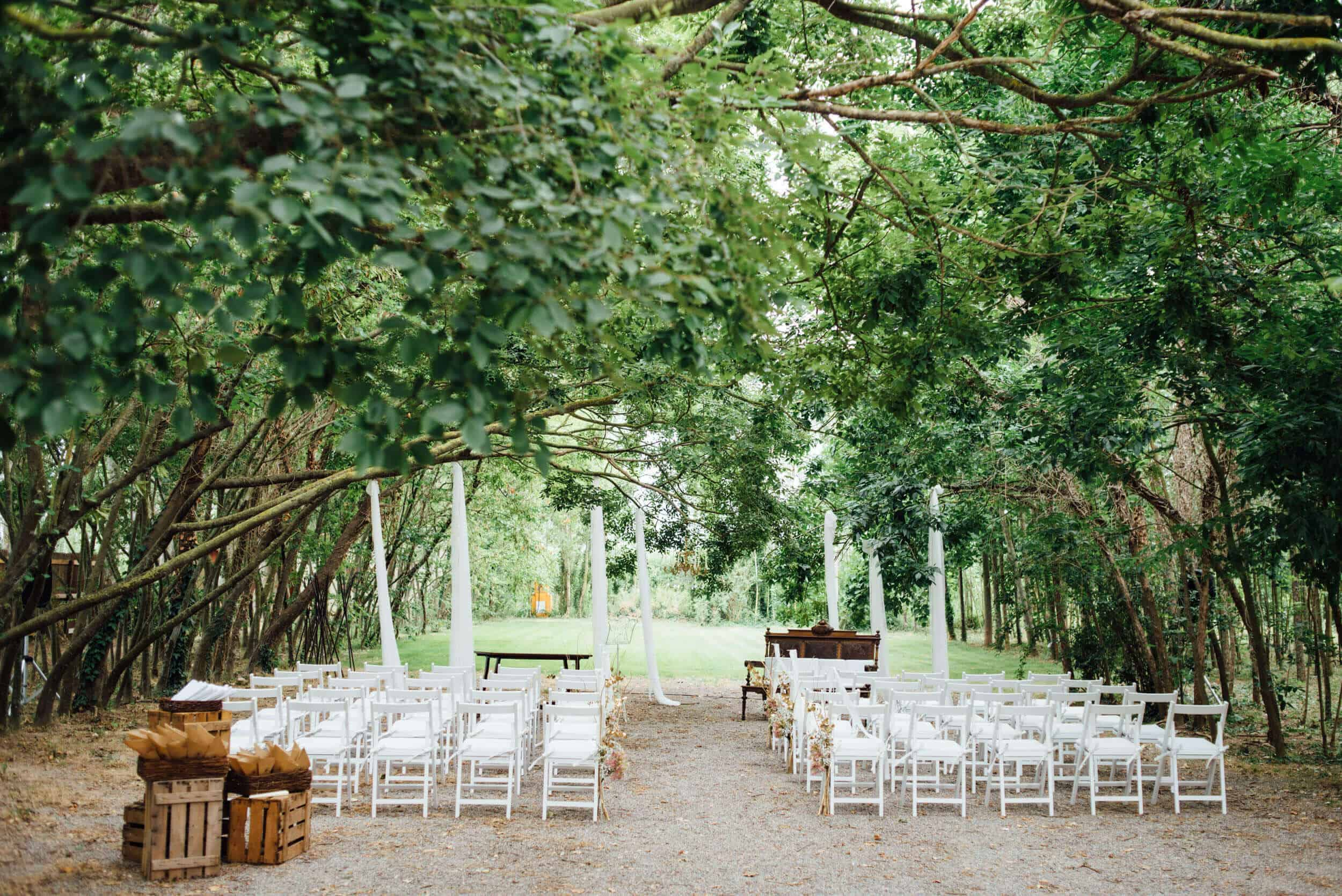 ceremony forest wedding castle cortal great