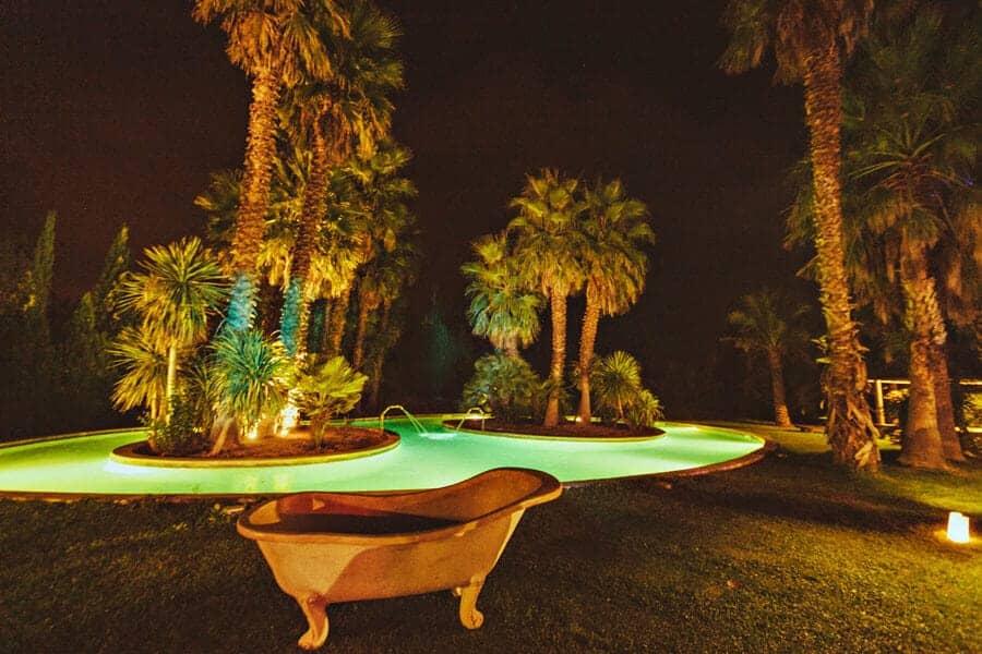 piscina jardín bodas castillo cortal gran