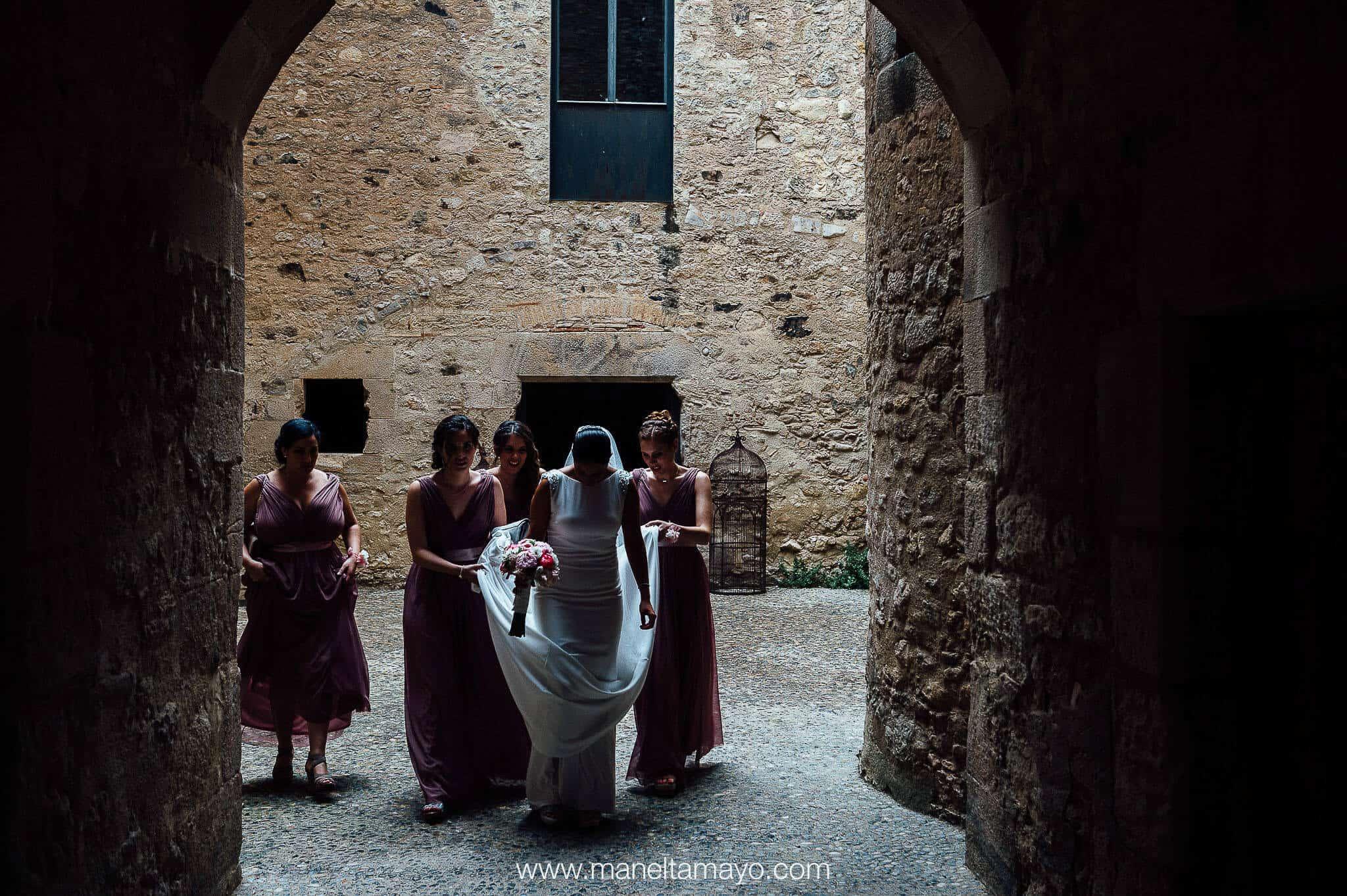 novia patio de armas bodas castillo cortal gran