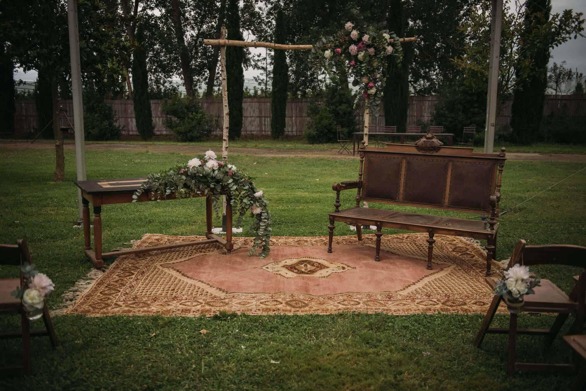 gran tall tallat casament jardí decoració