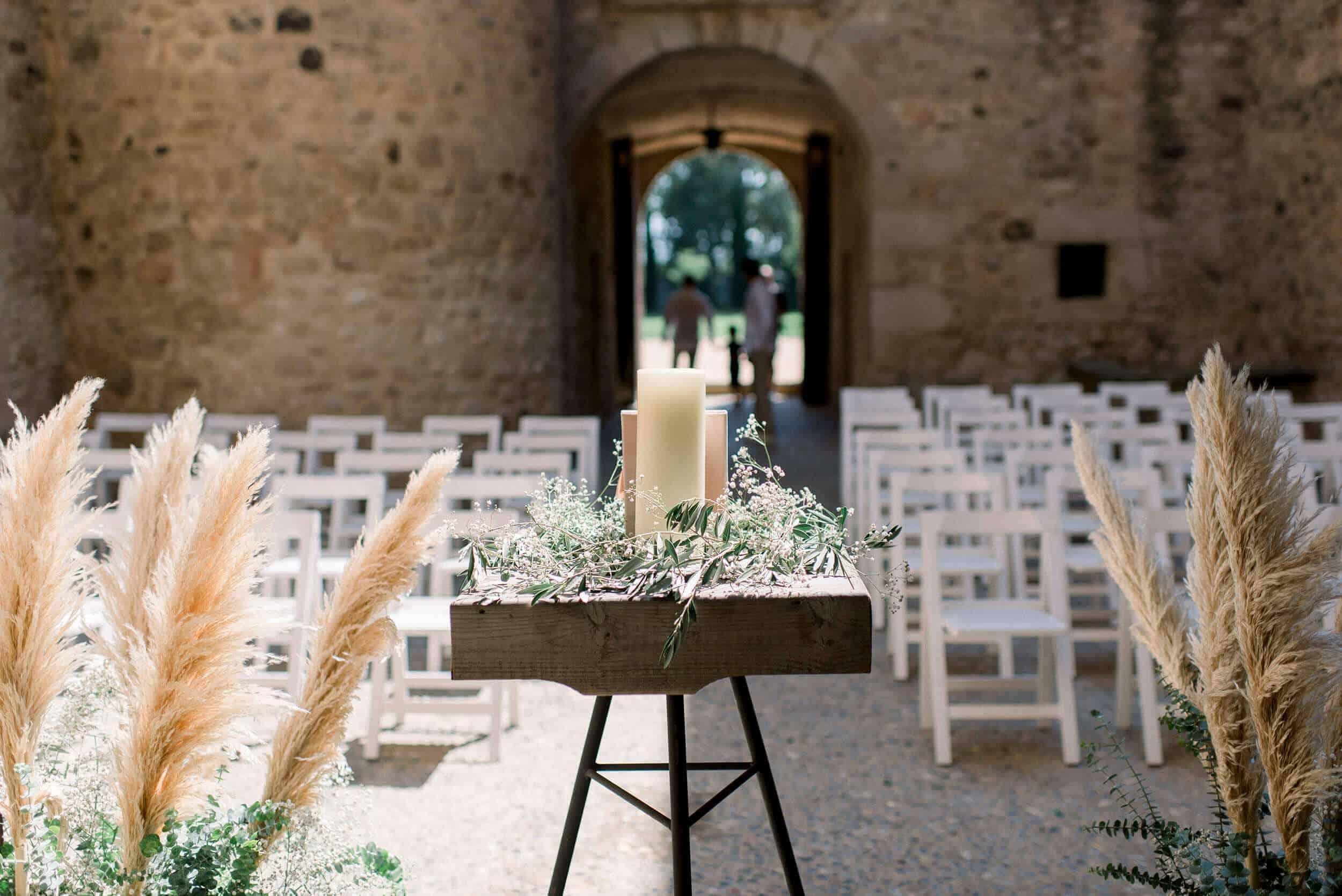 ceremonia patio de armas bodas castillo cortal gran