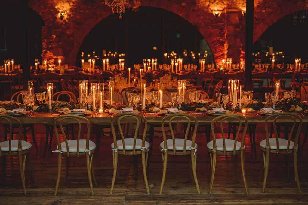 sala de banquets d'arcs casaments castell Cortal gran