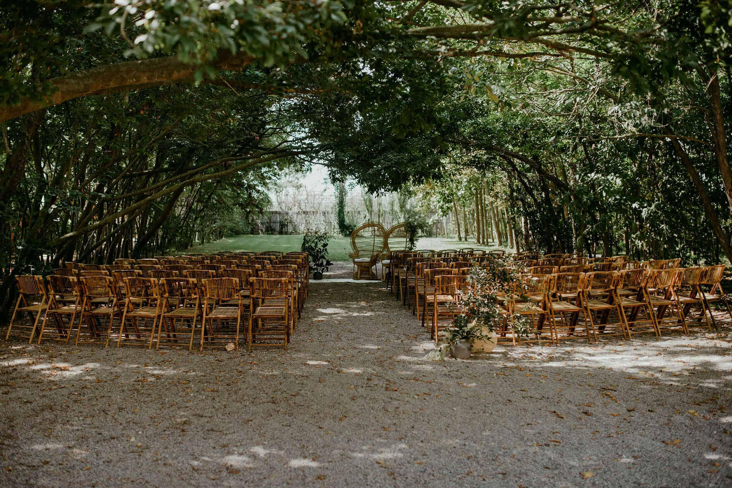 cerimònia del casament del bosc castell Cortal gran