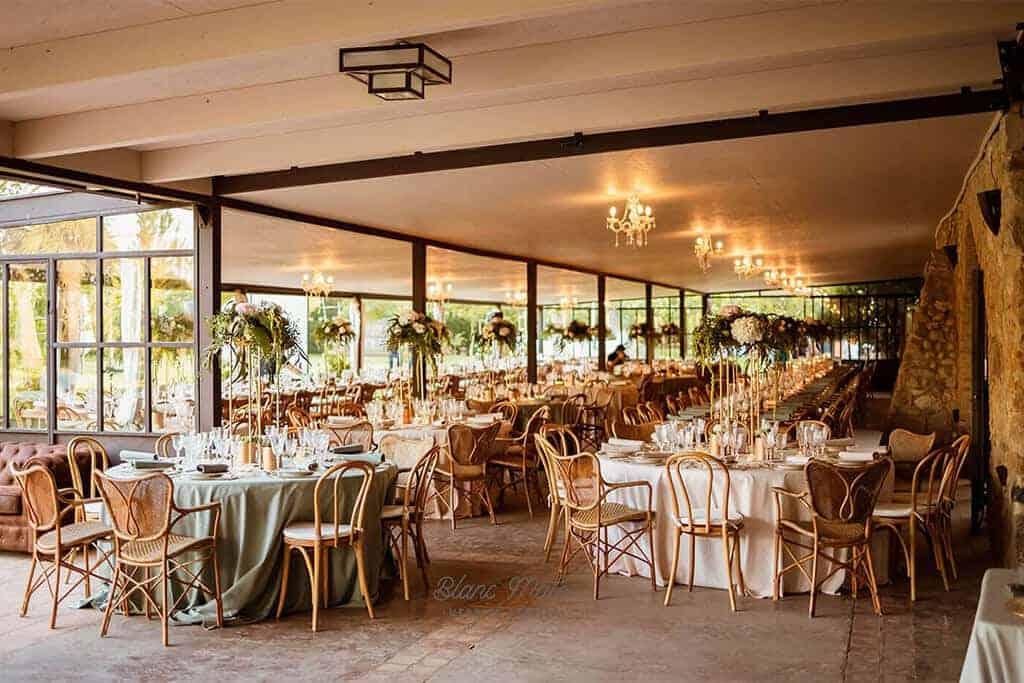 banquet gran porxo casament Slam castell